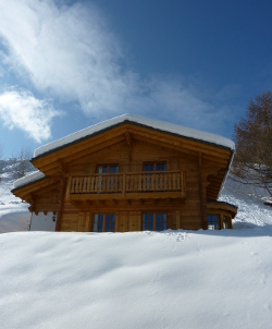 Chalet Rosablanche in the snow