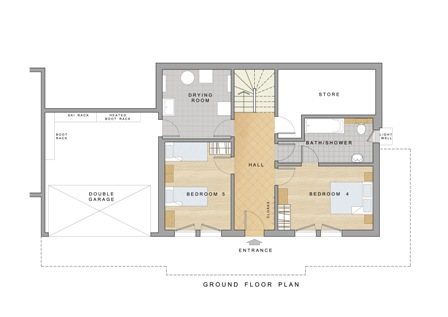 Chalet Daim - Ground floor plan