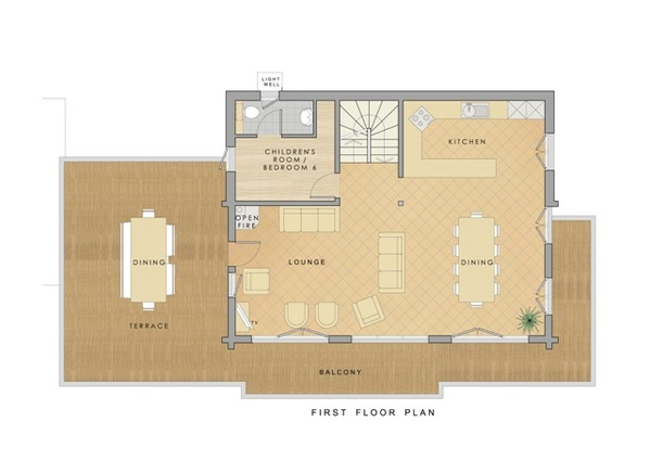 Chalet Daim - First floor plan