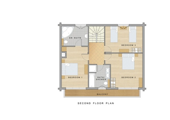 Chalet Daim - Second floor plan