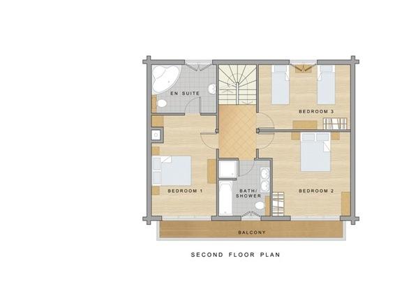 Chalet Daim - Second floor plan