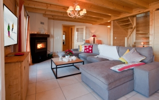 Spacious living area at Chalet ChouChou