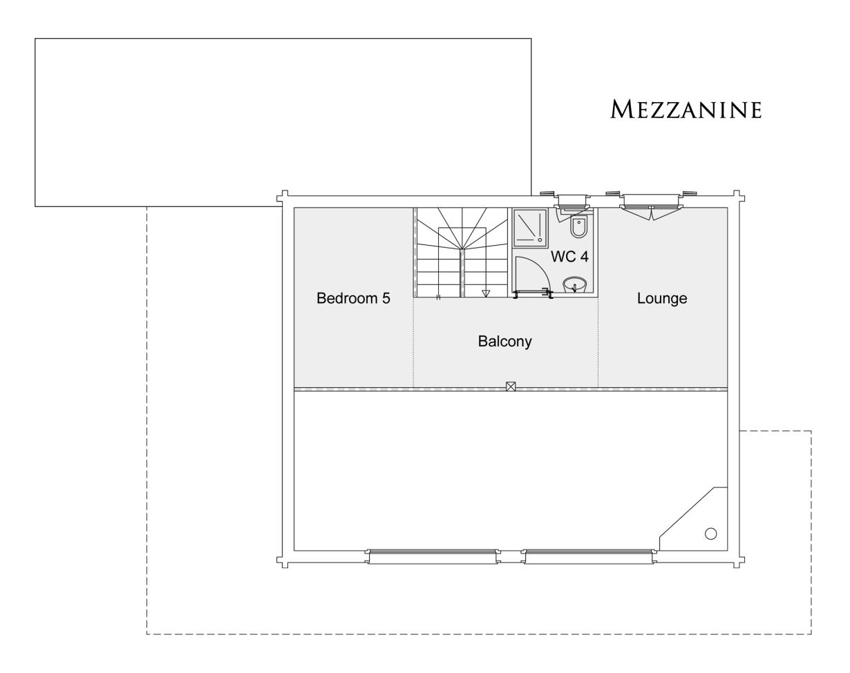 Chalet Cathay - Mezzanine floor plan